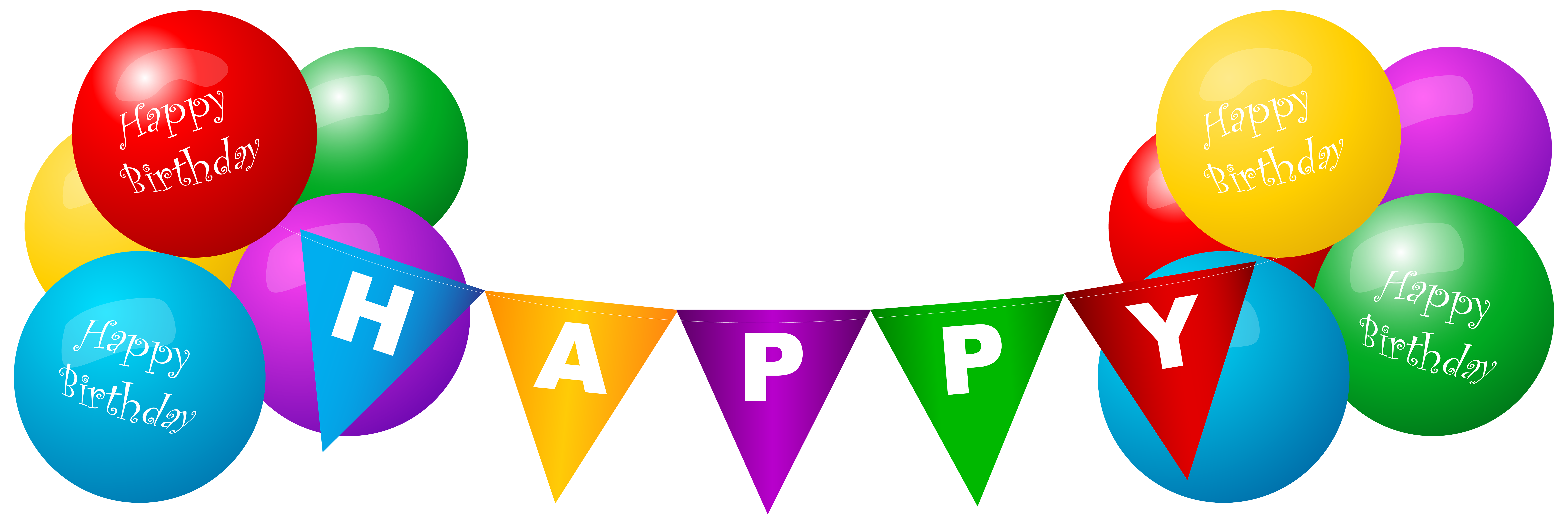 happy birthday balloon png clipart best
