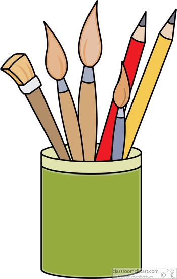 Art Supplies : art-supplies-pencils-paint-brushes-clipart-541623 ...