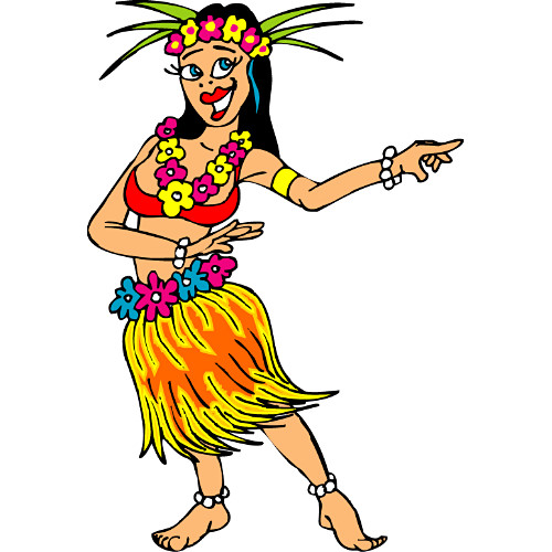 Animated Hawaiian Dancers - ClipArt Best