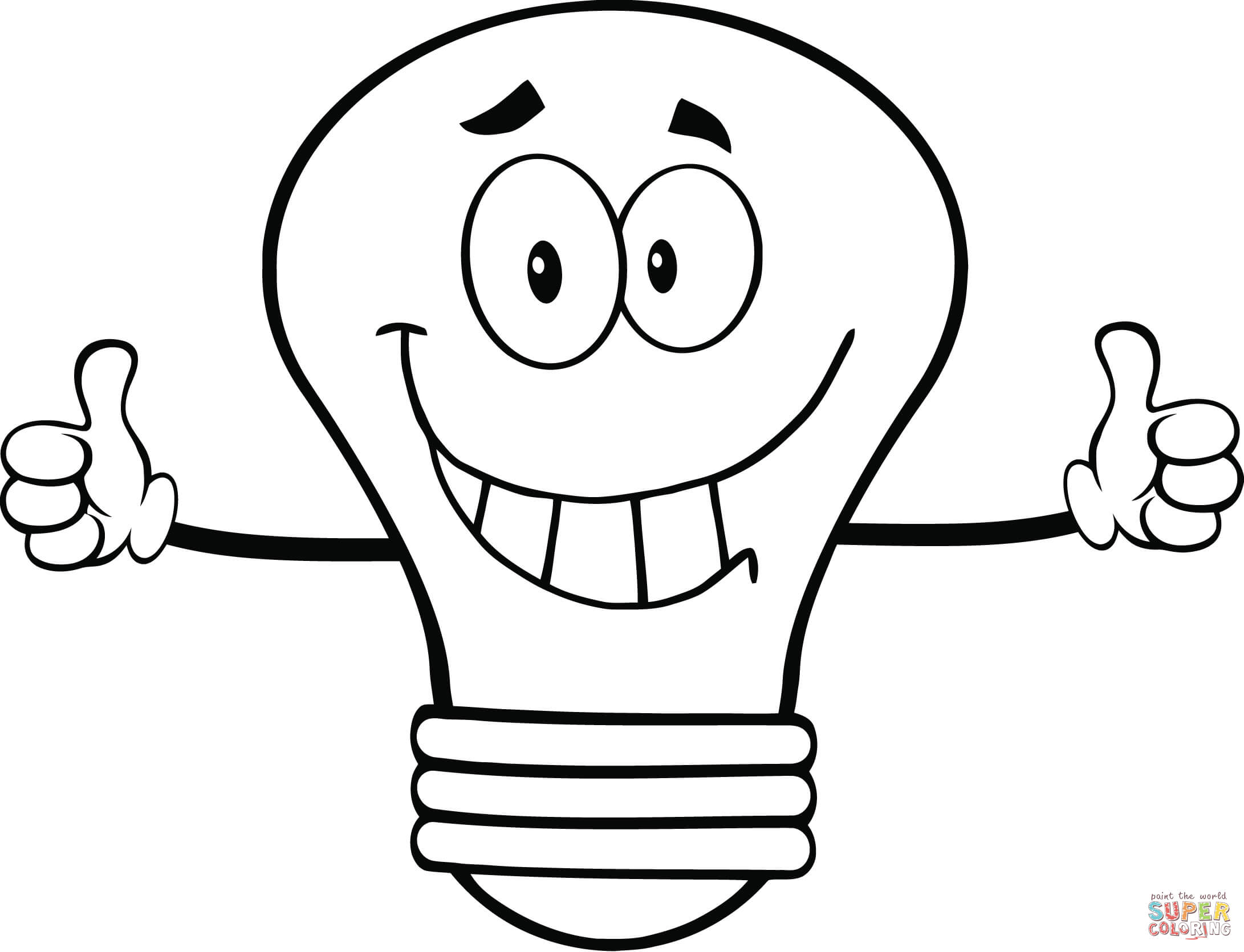 Light Bulb coloring page | Free Printable Coloring Pages