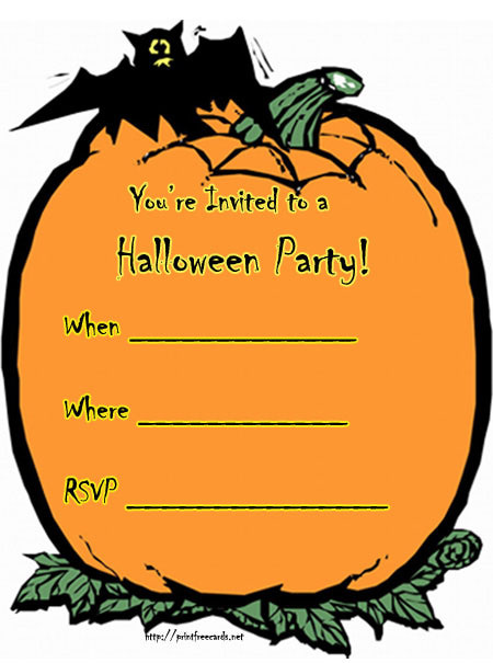 halloween clipart invitations - photo #3