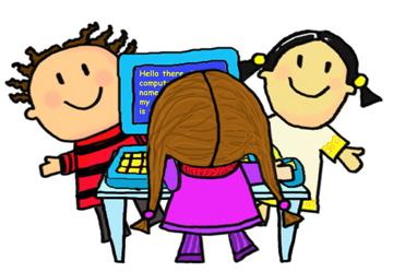 Image result for cartoon children doing ict
