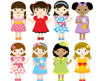 girls clipart: