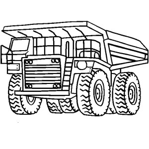 mining equipment coloring pages - photo#20