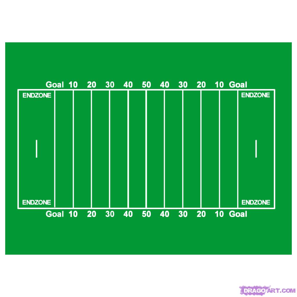 Print this diagram(PDF) Football Field Dimensions – NCAA/College. The dimensions of a regulation football field vary depending on the whether it is a high school, college or professional field that you are measuring. Breaking down the basic elements of a football field we will attempt to outline the differences between these levels of play.