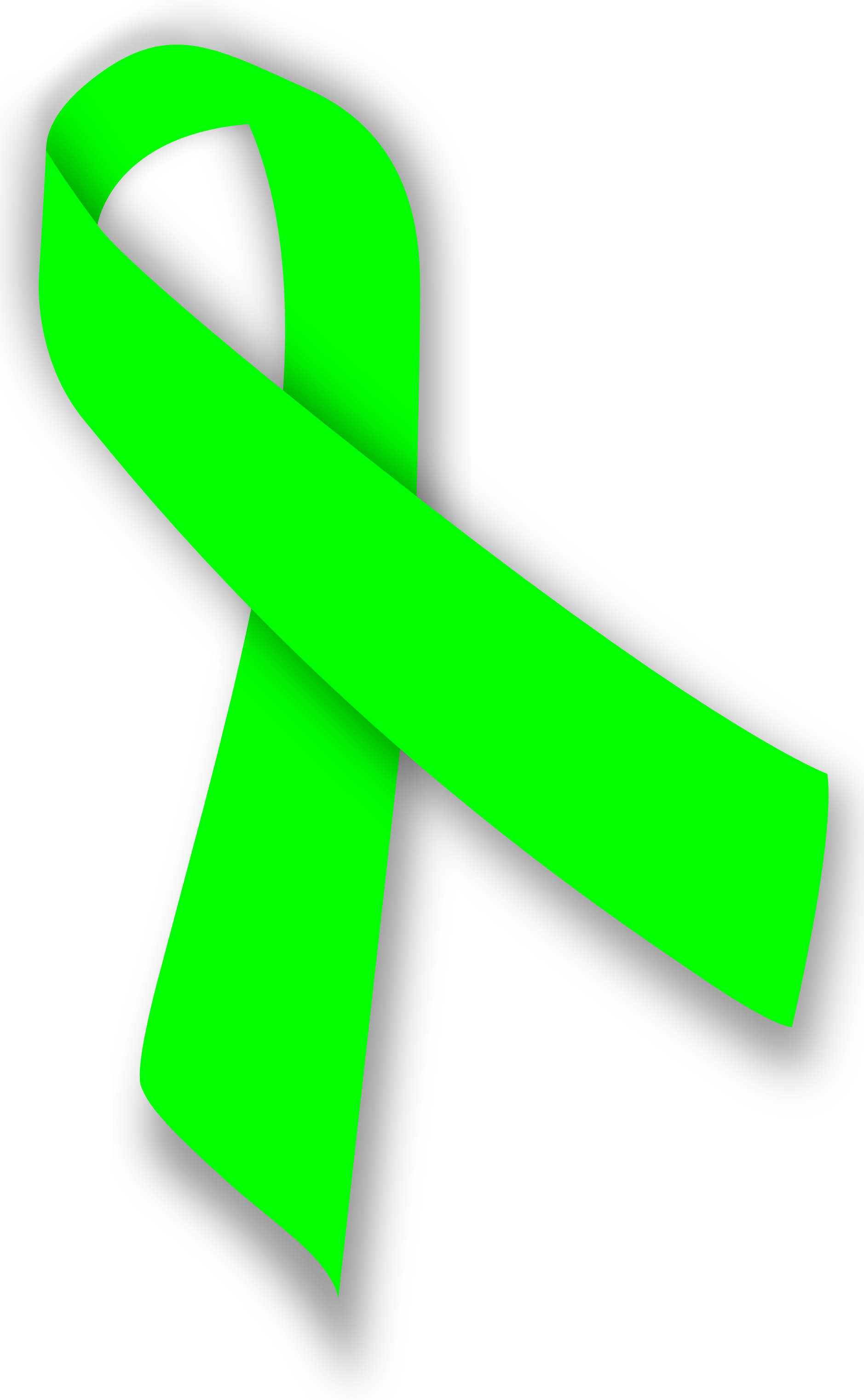 Lime Green Cancer Ribbon - ClipArt Best