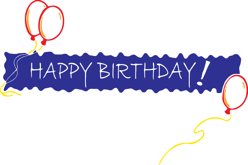 Happy birthday png text clipart best - Text banner design ...