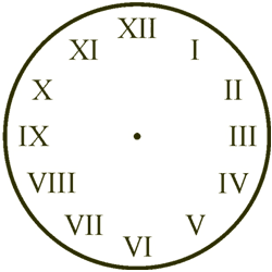 Roman Numeral Clock Face Template - ClipArt Best