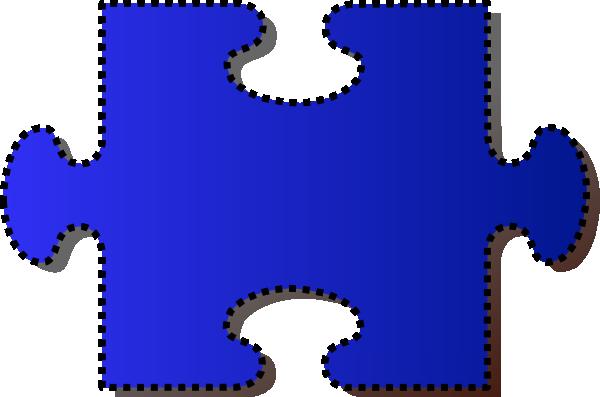 Jigsaw Blue Puzzle Piece Cutout clip art - vector clip art online ...