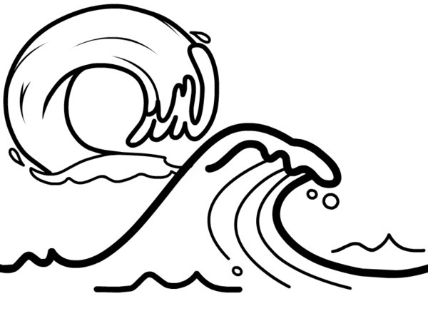 Line Drawing Waves : Wave line drawing clipart best