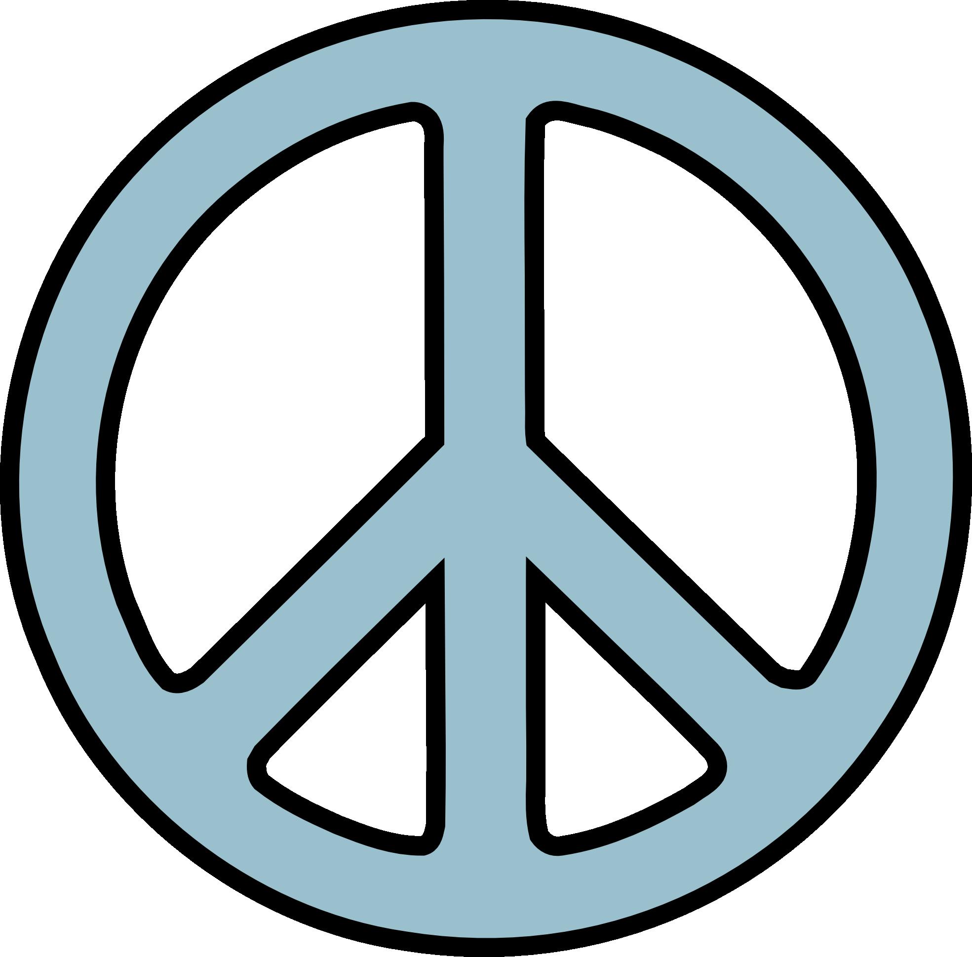 Peace Sign 3 Light Blu...