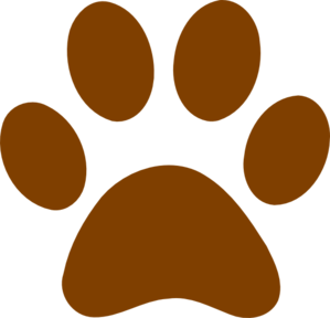 Brown Paw Print clip art - vector clip art online, royalty free ...