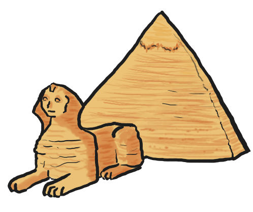 How to Draw a Sphinx For Kids, Step by Step, Greek Mythology ...