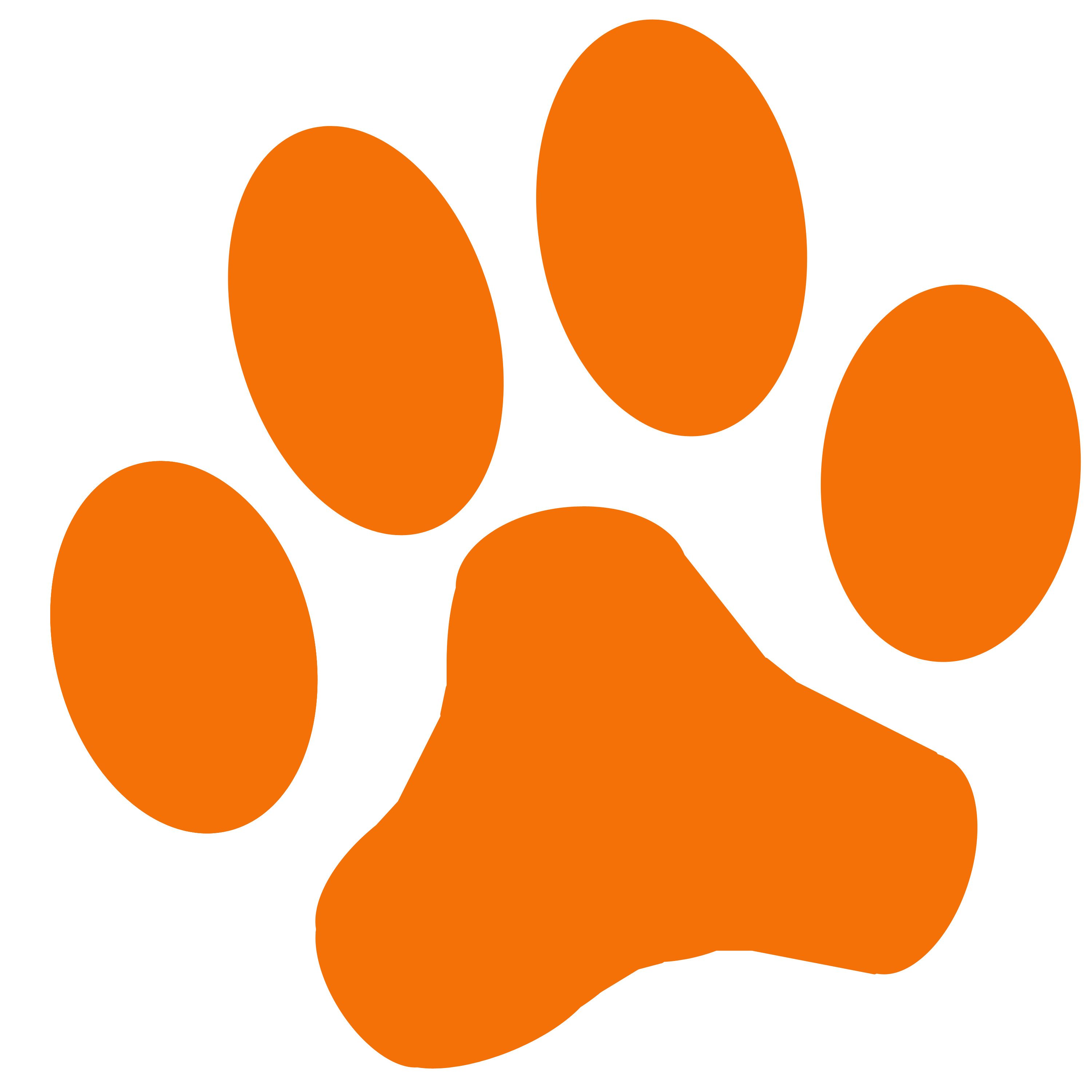 Clemson Paw Print That You Can Print Out - ClipArt Best