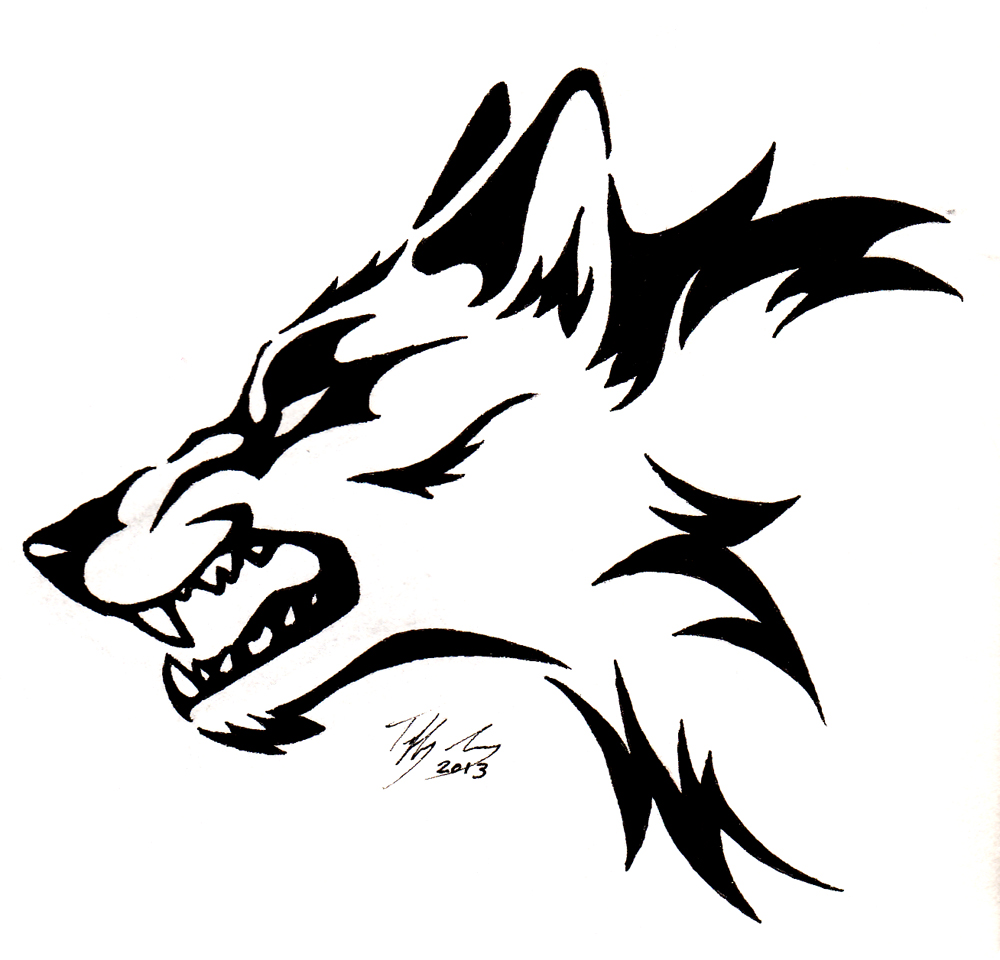 Simple Wolf Head - ClipArt Best