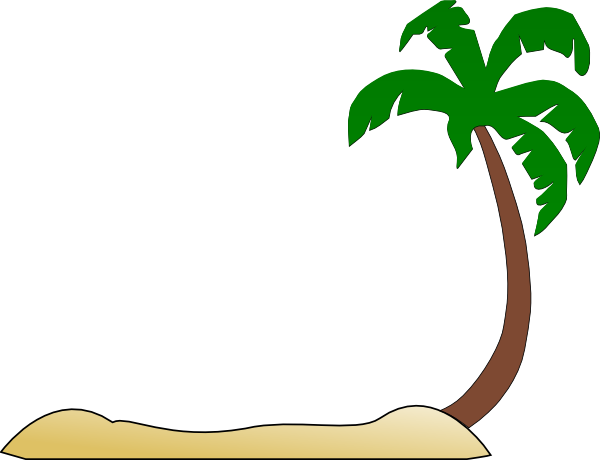 Palm Tree Clipart Black And White Palm Tree Beach Clipart