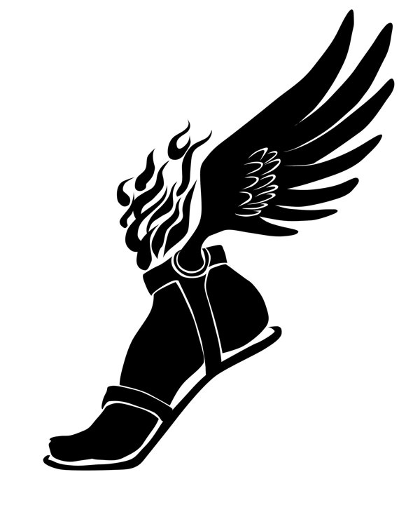 winged foot graphic clipart best track shoe clipart black and white track shoe clipart vector