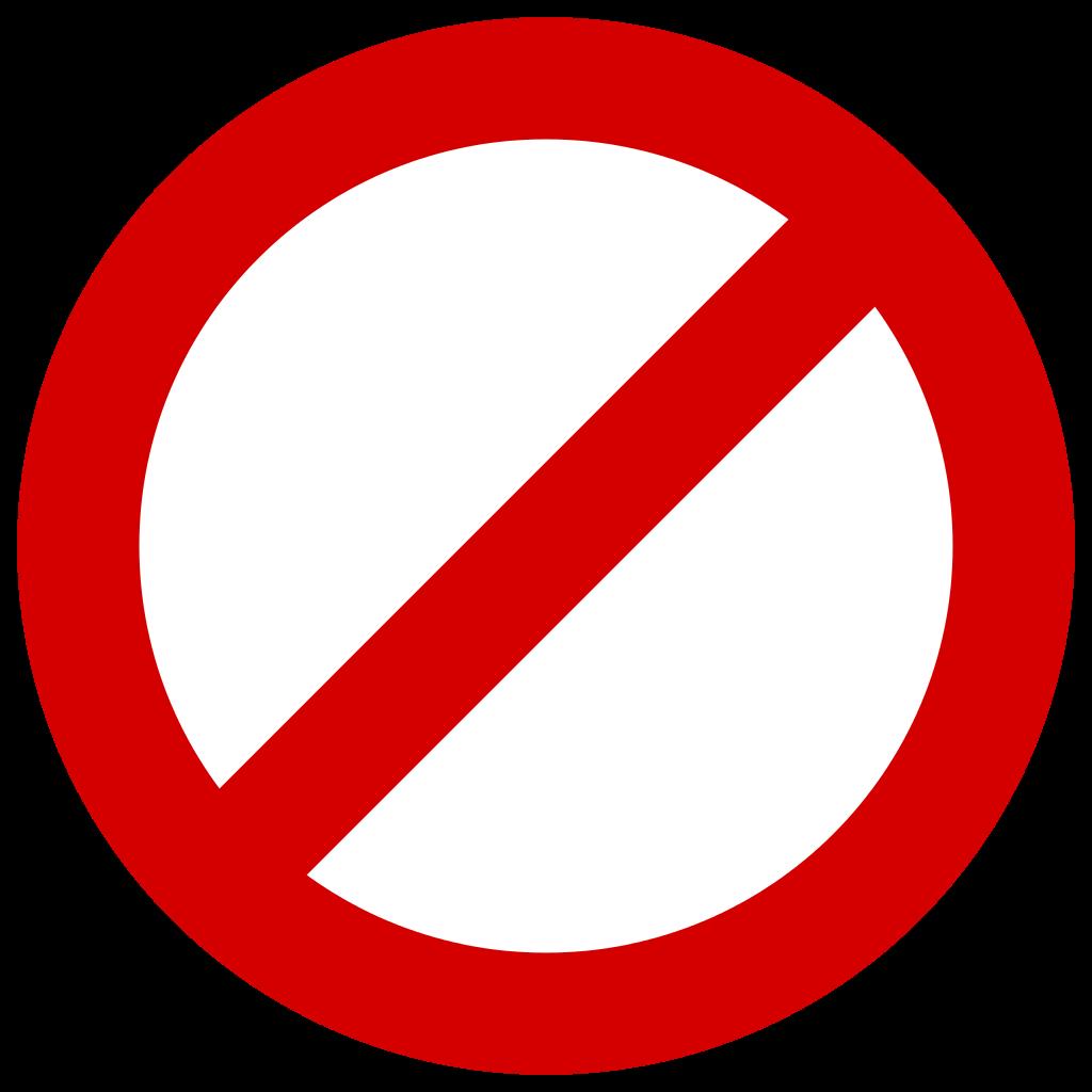 forbidden symbol clipart best