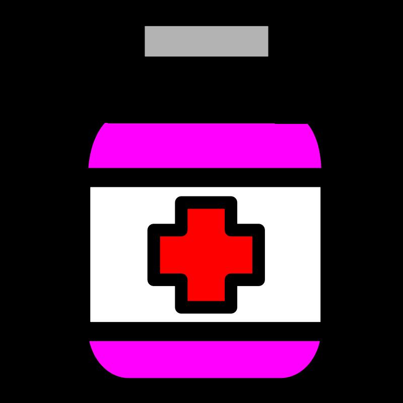 Pill Bottle Clipart