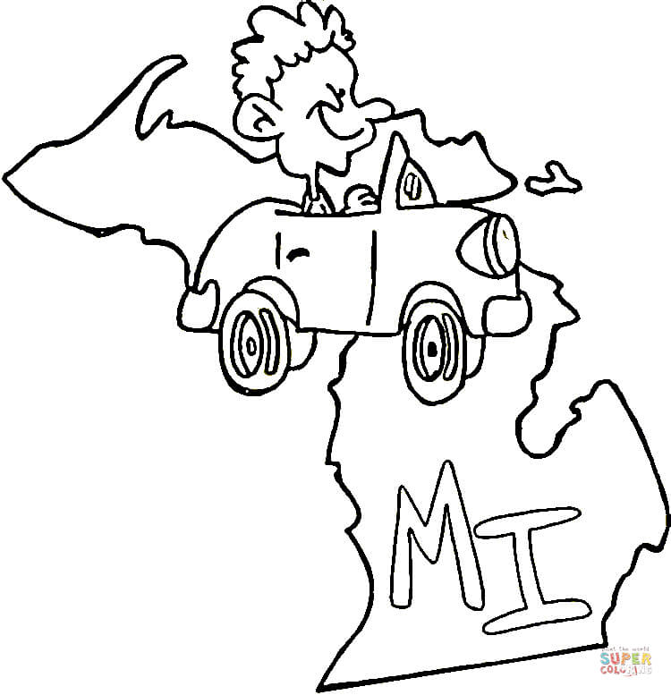 coloring pages of michigan - photo#15