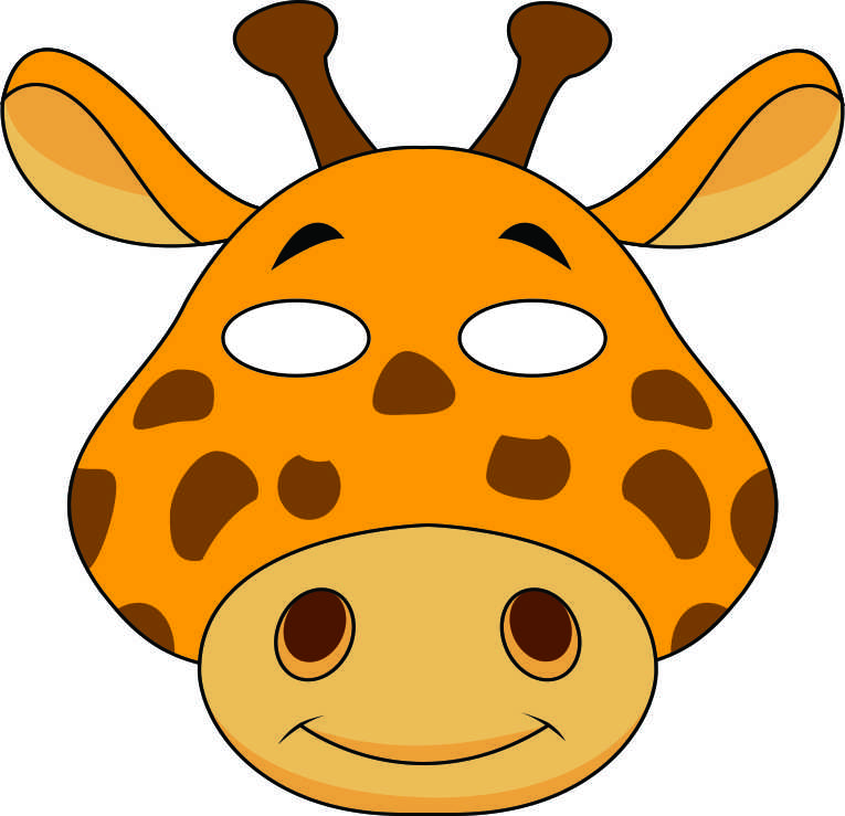 Giraffe Face Template - ClipArt Best