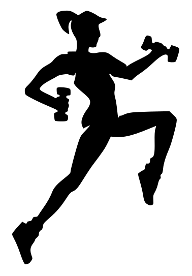 Fitness Silhouette Girl Clip Art Download - ClipArt Best