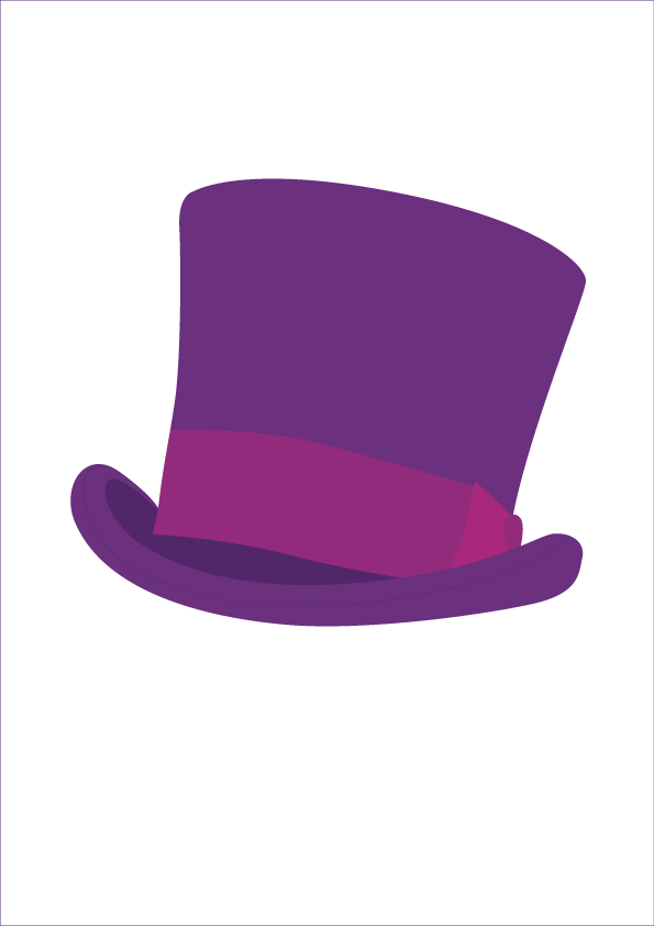 Willy Wonka Chocolate Bar Hat Clipart