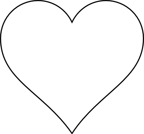 Small heart template clipart best for Small heart template to print