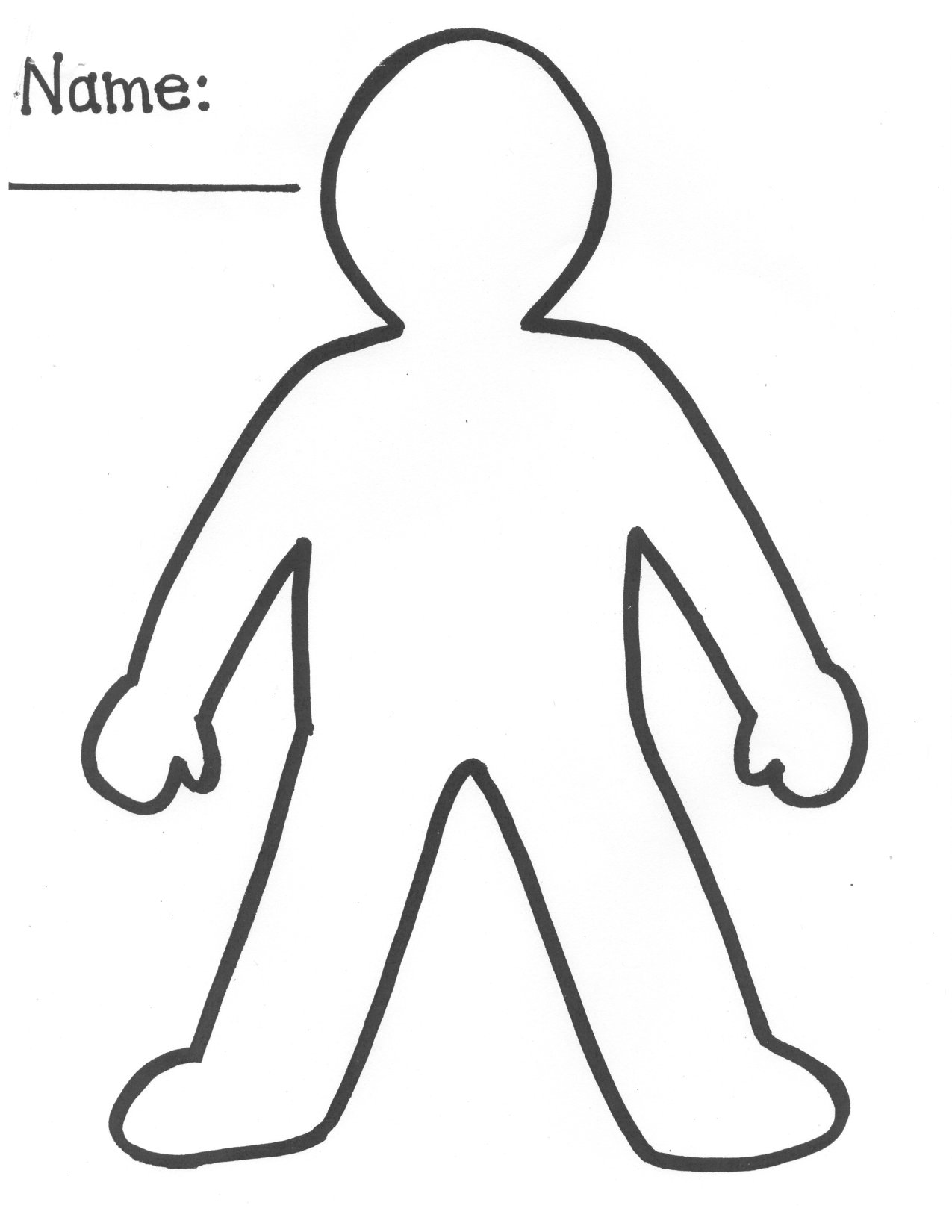 printable outline of person