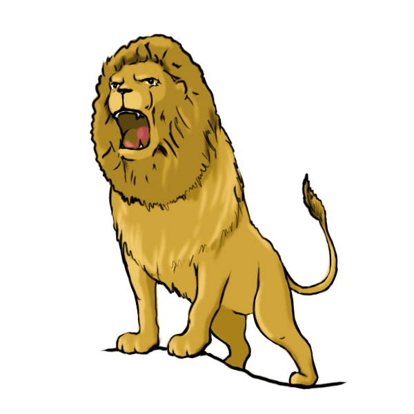 Drawing A Lion - ClipArt Best