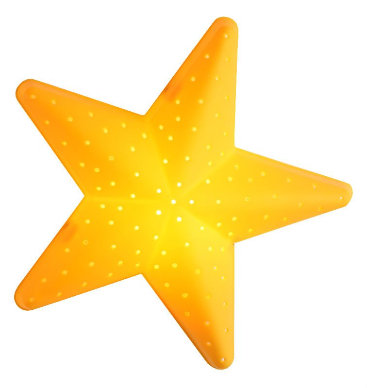 Yellow Star Shape on Yellow Objects Clipart For Kids