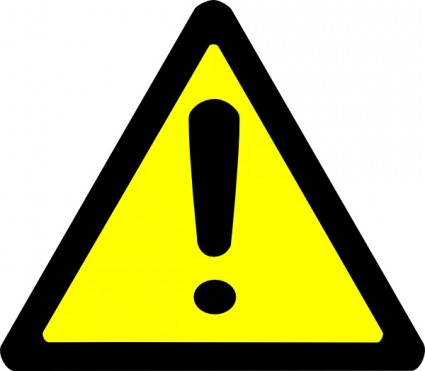 Caution Sign Font - ClipArt Best