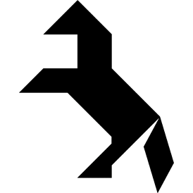 Tangram Horse - Tangram puzzle #23 - Fun games based on the famous ...