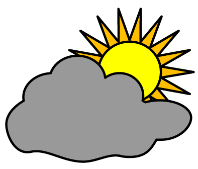 Partly Cloudy Symbol - ClipArt Best