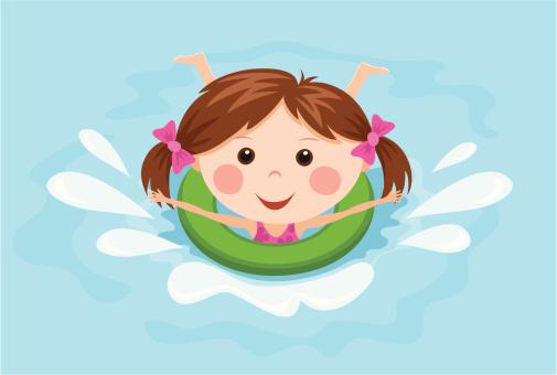 Little Girl Swimming Clipart - ClipArt Best  Little