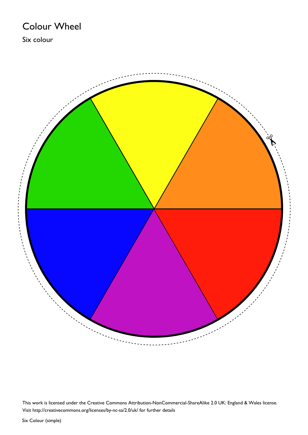 Color wheel lessons for high school