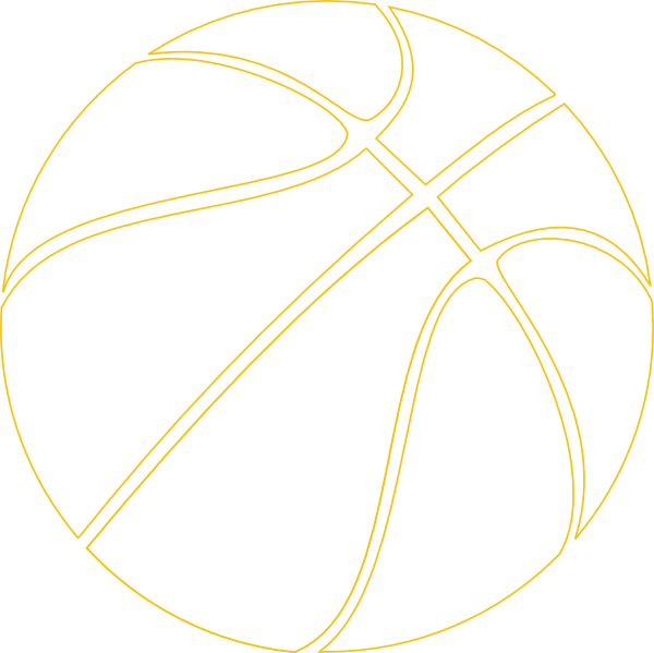 Basketball outline vector