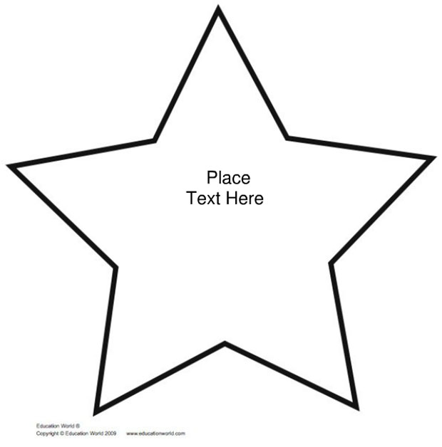 Big star template printable clipart best for How to cut a perfect star
