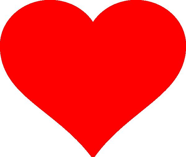Red Heart Flat clip art - vector clip art online, royalty free ...