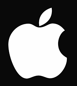 "Amazon.com: (2) Apple Logo Die Cut Vinyl Decal Sticker 4"" White ..."