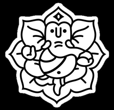 Ganesh Black And White - ClipArt Best