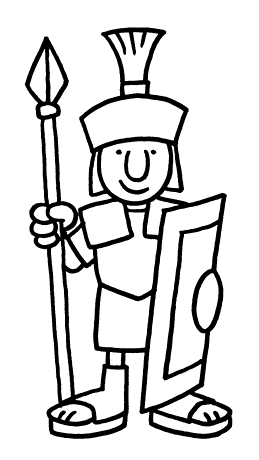 How To Draw A Roman Soldier - ClipArt Best