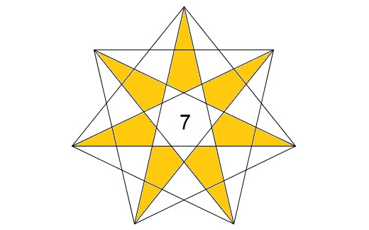 7 Pointed Star Template
