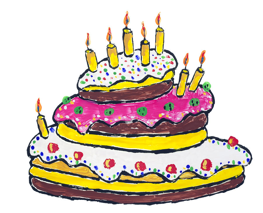Cake Images For Birthday Drawing : Birthday Cakes Drawings - ClipArt Best