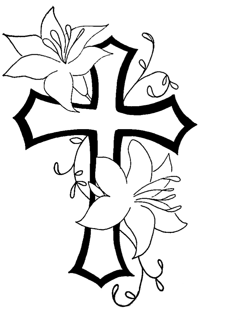 Simple Cross Line Art : Cross line art clipart best