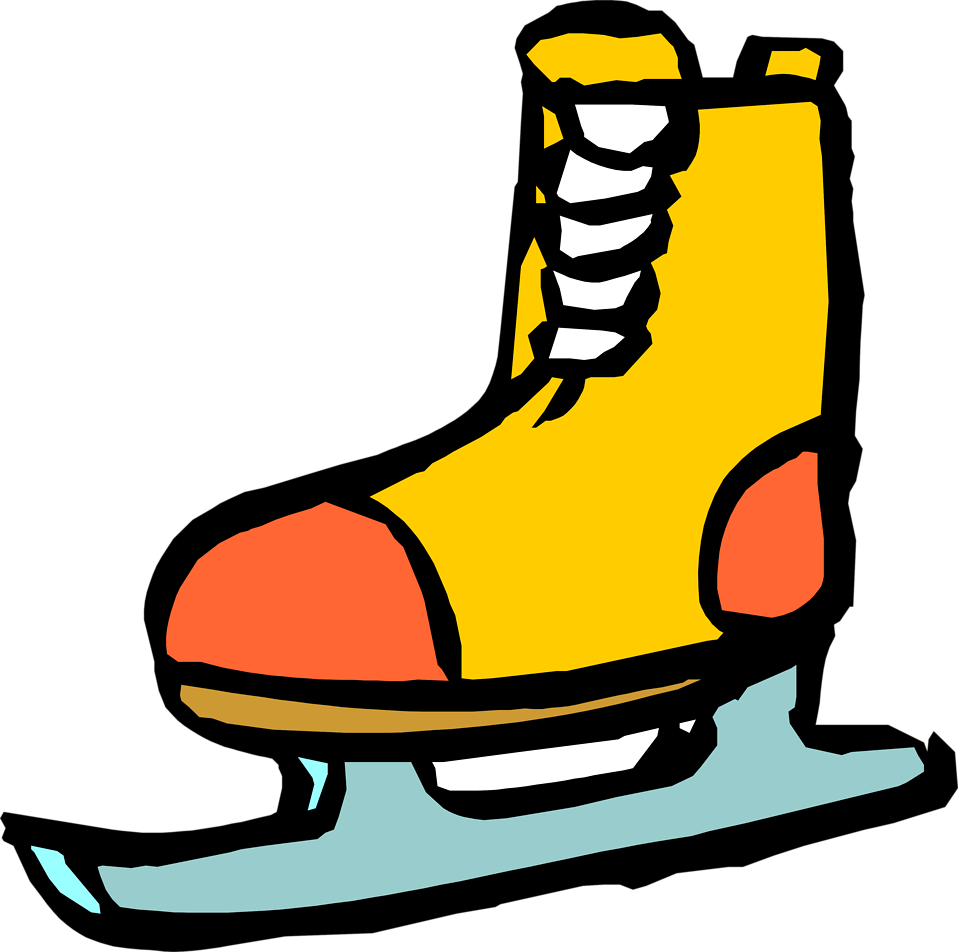 Ice skating shoes clipart