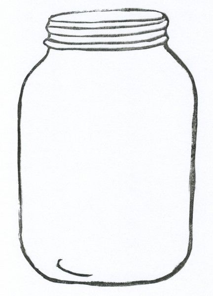This is an image of Shocking Mason Jar Cut Out Template