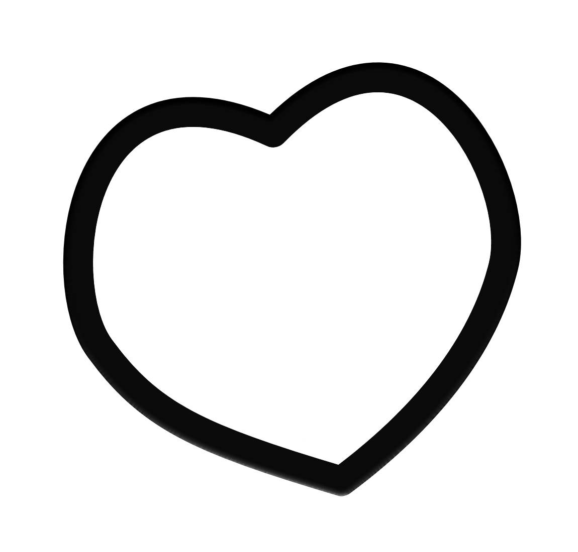 Black Heart Outline Clipart Black heart outline - clipart