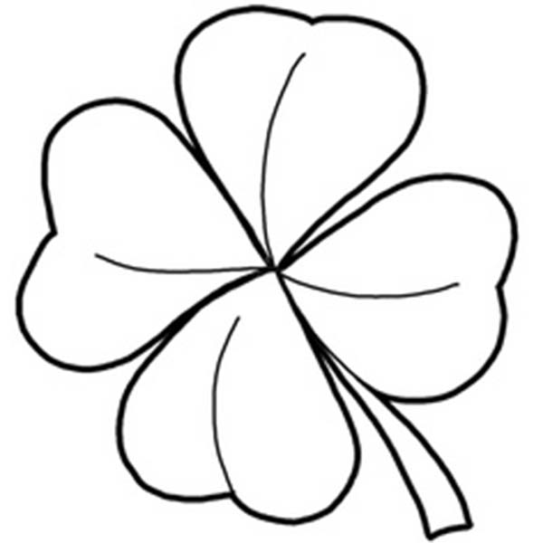 four leave clover coloring pages - photo#20