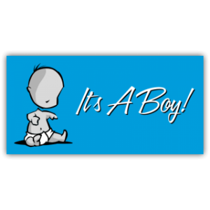 It's a Boy Magnetic Sign at SpeedySigns.